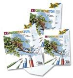 Folia Zeichenkarton 120 g/qm, DIN A4, 25 Blatt Zeichenkarton A4 120  g/qm weiß Block mit 25 Blatt