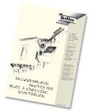 Folia Skizzenblock 120 g/qm, DIN A4, 50 Blatt Skizzenblock A4 120  g/qm weiß 50 Blatt