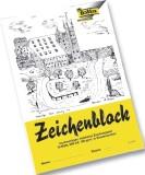 Folia Zeichenblock mit Leinenecken 120g/qm, DIN A4, 10 Blatt Zeichenblock A4 120  g/qm weiß