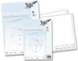 Folia Arbeitsblätter für technisches Zeichnen 120g/qm, weiß, DIN A3, 5 Blatt Zeichenblätter A3