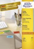 Avery Zweckform® 3451 Etiketten - 70 x 37 mm, gelb, 2.400 Etiketten/100 Blatt, permanent gelb 2.400