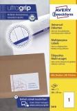 Avery Zweckform® 3418 Universal-Etiketten - 200 x 297 mm, weiß, 100 Etiketten/100 Blatt, permanent