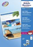 Avery Zweckform® 2798 Premium Colour Laser Papier, DIN A4, beidseitig beschichtet - hochglänzend, 200 g/qm, 100 Blatt