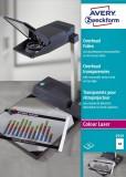 Avery Zweckform® 3559 Overhead-Folien - A4, spezialbeschichtet, Stärke 0,10 mm, 50 Blatt Farblaser