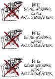5742 Hinweisetiketten Keine Werbung Anzeigenbl. Wetterfest HERMA Hinweisetiketten Hinweisetiketten 3