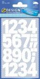 Avery Zweckform® 3787 Zahlen-Etiketten - 0-9, 25 mm, weiß, selbstklebend, wetterfest, 28 Etiketten