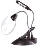 Wedo Tischlupe Ø 10,2 cm mit LED-Licht - Vergrößerung 2-/4-fach, schwarz Lupe Linsen-Ø 10,2 cm