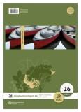Ursus Basic Ringbucheinlage LIN26 A4 50 Blatt 70g/qm 5mm kariert mit Rand Ringbucheinlage A4 70 g/qm