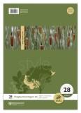 Ursus Basic Ringbucheinlage LIN28 A4 50 Blatt 70g/qm 5mm kariert mit Randlinien Ringbucheinlage A4