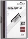 Durable Klemm-Mappe DURACLIP® 30, DIN A4, anthrazit/grau Klemmmappe transparent/anthrazit