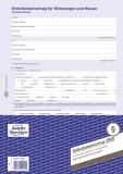 Avery Zweckform® 2850 Einheitsmietvertrag - Wohnungen und Häuser, DIN A4, mit Hausordnung, 1 Satz/5 Stück, blau