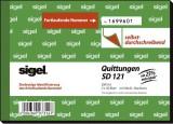 Sigel® Quittungen mit Sicherheitsdruck - A6 quer, SD, MP, 2 x 50 Blatt Quittung DIN A6 2 x 50 Blatt