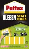 Pattex Klebe-Strips Kleben statt Bohren 10 Stück Klebestrips 10 Stück 40 x 20 mm weiß