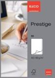 Elco Schreibblock Prestige - DIN A5, blanko, weiß, 50 Blatt mit Lösch- und Linienblatt Briefblock