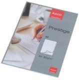 Elco Schreibblock Prestige - DIN A4, blanko, weiß, 50 Blatt mit Lösch- und Linienblatt Briefblock
