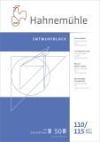 Hahnemühle Transparentblock - A4, 110/115 g/qm, 50 Blatt Transparentpapier A4 110/115  g/qm 50