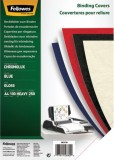 Fellowes® Deckblätter Chromolux - A4 Deckblätter, blau, 100 Stück Deckblätter blau 100 Stück