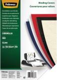 Fellowes® Deckblätter Chromolux - A4 Deckblätter, rot, 100 Stück Deckblätter rot 100 Stück A4