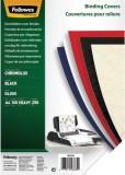Fellowes® Deckblätter Chromolux - A4 Deckblätter, schwarz, 100 Stück Deckblätter schwarz A4