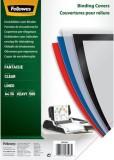 Fellowes® Deckblätter Fantasie - A4, PP, transparent,50 Stück mit Linienmuster Deckblätter A4