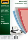 Fellowes® Deckblätter - A4, PVC, transparent, 100 Stück Deckblätter transparent 100 Stück A4