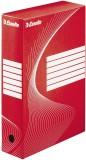 Esselte Archiv-Schachtel - DIN A4, Rückenbreite 8 cm, rot Archivbox rot 80 mm 345 mm 245 mm