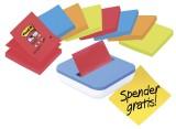 Post-it® SuperSticky Haftnotiz  Z-Notes, 76 x 76 mm, f.sort,  8 x 90 Blatt + Spender gratis 720