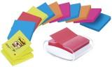 Post-it® SuperSticky Haftnotizspender für  Z-Notes Promotion, gefüllt, weiß/transparent Acryl 90