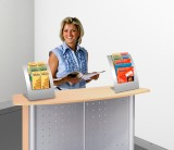 Design Tisch-Prospektständer Varia 5 Fächer