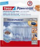 tesa® Powerstrips® Deco-Haken XL - ablösbar, Tragfähigkeit 1 kg, transparent Haken 1 kg 30 mm