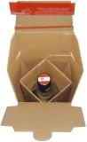 ColomPac® Flaschenkarton mit Selbstklebeverschluss - für 1 Flaschen für 1 Flasche braun 145 g