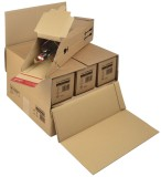 ColomPac® Flaschenkarton mit Selbstklebeverschluss - für 3 oder 6 Flaschen Versandkarton braun