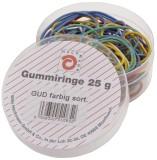 Wihedü Gummiringe - farbig sortiert, Dose mit 25g Gummiringe sortiert sortiert 25 g