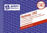 Avery Zweckform® 1742 Quittung Kleinunternehmer, 1. und 2. Blatt bedruckt, SD, DIN A6 quer, 2x40 Blatt