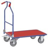 fetra® Optiliner Schiebegriffwagen blau/rot Transportkarre 900 x 600 mm 400 kg 25 kg
