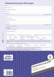 Avery Zweckform® 2849 Einheitsmietvertrag für Wohnungen, DIN A4, mit Hausordnung, 1 Satz, blau