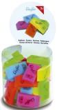 Läufer Radierer transluzent - sortiert, 40 Stück Radierer 48 x 11 x 24 mm