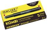 ONLINE® Tintenkombipatrone - 5 Stück, schwarz Tintenpatrone schwarz 5 Patronen