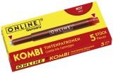 ONLINE® Tintenkombipatrone - 5 Stück, rot Tintenpatrone rot 5 Patronen