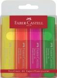 Faber-Castell Textmarker TEXTLINER 1546, nachfüllbar, 4 Farben im Etui Textmarker 1, 2 und 5 mm