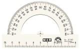 M+R Winkelmesser Halbkreis, Polystyrol, von 0° bis 180°, 100 mm, glasklar Winkelmesser 180° 10 cm