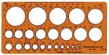 Standardgraph Kreisschablone Ø 1-36 mm (25 Kreise) Schablone