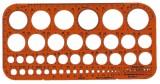 Standardgraph Kreisschablone Ø 1-36 mm (45 Kreise) Schablone