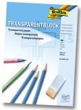 Folia Transparentpapier - 80g, A4 Block, 25 Blatt Transparentpapier A4 80 g/qm 25