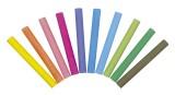 Giotto Tafelkreide Robercolor - rund, 10 Farben sortiert, 100 Stück staubfrei - wasservermalbar