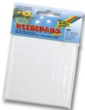 Folia Klebepads für 3D-Effekte Sticker, doppelseitig & selbstklebend, weiß 5x5mm. 800 Stück weiß