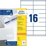 Avery Zweckform® 3423 Universal-Etiketten - 105 x 35 mm, weiß, 1.600 Etiketten/100 Blatt, permanent