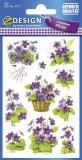 Avery Zweckform® Z-Design 4317, Deko Sticker, Veilchen, 3 Bogen/30 Sticker Deko-Etiketten Veilchen