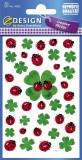 Avery Zweckform® Z-Design 4362, Deko Sticker, Glücksklee, 3 Bogen/108 Sticker Deko-Etiketten 3
