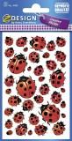 Avery Zweckform® Z-Design 4400, Deko Sticker, Marienkäfer, 3 Bogen/114 Sticker Deko-Etiketten 3